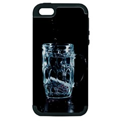 Glass Water Liquid Background Apple Iphone 5 Hardshell Case (pc+silicone) by BangZart