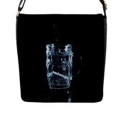 Glass Water Liquid Background Flap Messenger Bag (l)  by BangZart