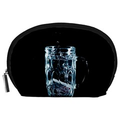 Glass Water Liquid Background Accessory Pouches (large)  by BangZart