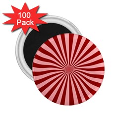 Sun Background Optics Channel Red 2 25  Magnets (100 Pack)  by BangZart