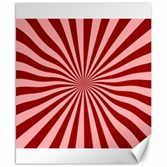 Sun Background Optics Channel Red Canvas 8  X 10  by BangZart