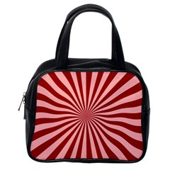 Sun Background Optics Channel Red Classic Handbags (one Side) by BangZart