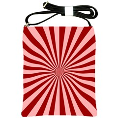 Sun Background Optics Channel Red Shoulder Sling Bags by BangZart