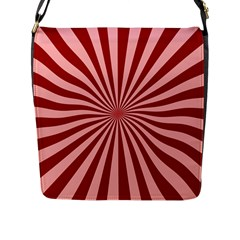 Sun Background Optics Channel Red Flap Messenger Bag (l)  by BangZart
