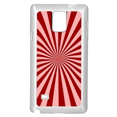 Sun Background Optics Channel Red Samsung Galaxy Note 4 Case (white) by BangZart