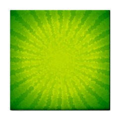 Radial Green Crystals Crystallize Tile Coasters by BangZart