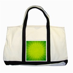 Radial Green Crystals Crystallize Two Tone Tote Bag