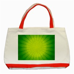 Radial Green Crystals Crystallize Classic Tote Bag (red) by BangZart