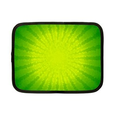 Radial Green Crystals Crystallize Netbook Case (small)  by BangZart