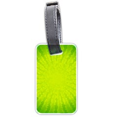 Radial Green Crystals Crystallize Luggage Tags (one Side)  by BangZart