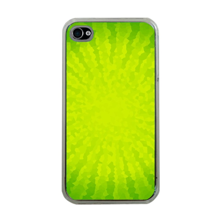 Radial Green Crystals Crystallize Apple iPhone 4 Case (Clear)