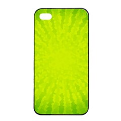 Radial Green Crystals Crystallize Apple Iphone 4/4s Seamless Case (black)