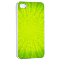Radial Green Crystals Crystallize Apple Iphone 4/4s Seamless Case (white)