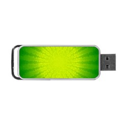 Radial Green Crystals Crystallize Portable Usb Flash (two Sides) by BangZart