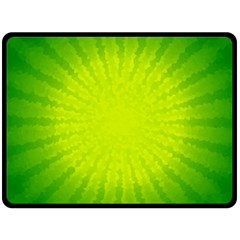Radial Green Crystals Crystallize Double Sided Fleece Blanket (large)  by BangZart