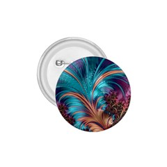 Feather Fractal Artistic Design 1 75  Buttons by BangZart