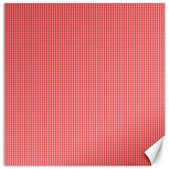 Christmas Red Velvet Mini Gingham Check Plaid Canvas 20  X 20   by PodArtist
