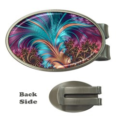 Feather Fractal Artistic Design Money Clips (oval)  by BangZart