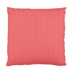 Christmas Red Velvet Mini Gingham Check Plaid Standard Cushion Case (one Side) by PodArtist