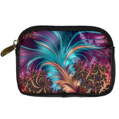 Feather Fractal Artistic Design Digital Camera Cases by BangZart