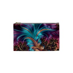 Feather Fractal Artistic Design Cosmetic Bag (small)  by BangZart