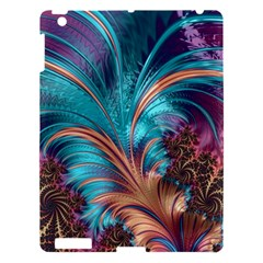 Feather Fractal Artistic Design Apple Ipad 3/4 Hardshell Case by BangZart