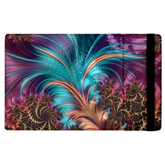 Feather Fractal Artistic Design Apple Ipad 3/4 Flip Case by BangZart
