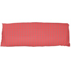 Christmas Red Velvet Mini Gingham Check Plaid Body Pillow Case (dakimakura) by PodArtist