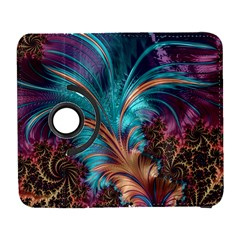 Feather Fractal Artistic Design Galaxy S3 (flip/folio) by BangZart
