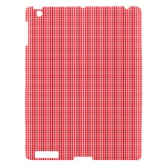 Christmas Red Velvet Mini Gingham Check Plaid Apple Ipad 3/4 Hardshell Case by PodArtist