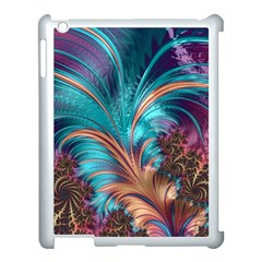 Feather Fractal Artistic Design Apple Ipad 3/4 Case (white) by BangZart