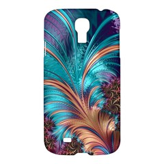 Feather Fractal Artistic Design Samsung Galaxy S4 I9500/i9505 Hardshell Case by BangZart