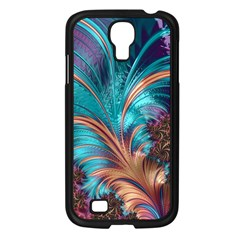 Feather Fractal Artistic Design Samsung Galaxy S4 I9500/ I9505 Case (black) by BangZart