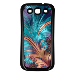 Feather Fractal Artistic Design Samsung Galaxy S3 Back Case (black) by BangZart