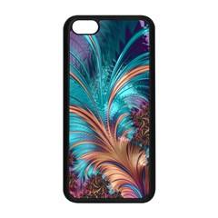 Feather Fractal Artistic Design Apple Iphone 5c Seamless Case (black) by BangZart
