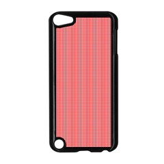 Christmas Red Velvet Mini Gingham Check Plaid Apple Ipod Touch 5 Case (black) by PodArtist