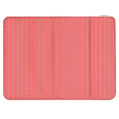 Christmas Red Velvet Mini Gingham Check Plaid Samsung Galaxy Tab 7  P1000 Flip Case by PodArtist
