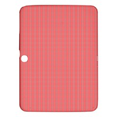 Christmas Red Velvet Mini Gingham Check Plaid Samsung Galaxy Tab 3 (10 1 ) P5200 Hardshell Case  by PodArtist