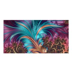Feather Fractal Artistic Design Satin Shawl by BangZart