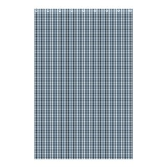 Silent Night Blue Mini Gingham Check Plaid Shower Curtain 48  X 72  (small)  by PodArtist