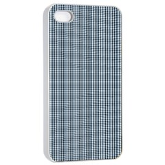 Silent Night Blue Mini Gingham Check Plaid Apple Iphone 4/4s Seamless Case (white) by PodArtist