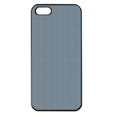 Silent Night Blue Mini Gingham Check Plaid Apple Iphone 5 Seamless Case (black) by PodArtist
