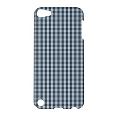 Silent Night Blue Mini Gingham Check Plaid Apple Ipod Touch 5 Hardshell Case by PodArtist