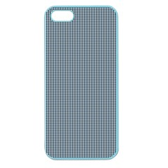 Silent Night Blue Mini Gingham Check Plaid Apple Seamless Iphone 5 Case (color) by PodArtist