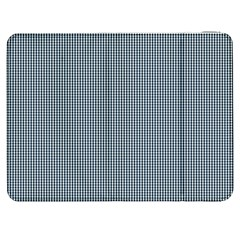 Silent Night Blue Mini Gingham Check Plaid Samsung Galaxy Tab 7  P1000 Flip Case by PodArtist