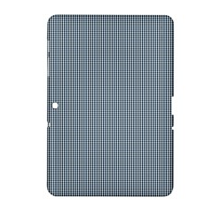 Silent Night Blue Mini Gingham Check Plaid Samsung Galaxy Tab 2 (10 1 ) P5100 Hardshell Case  by PodArtist