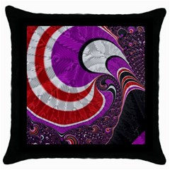 Fractal Art Red Design Pattern Throw Pillow Case (black) by BangZart