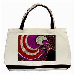 Fractal Art Red Design Pattern Basic Tote Bag (two Sides) by BangZart
