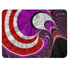 Fractal Art Red Design Pattern Samsung Galaxy Tab 7  P1000 Flip Case by BangZart