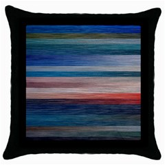 Background Horizontal Lines Throw Pillow Case (black) by BangZart